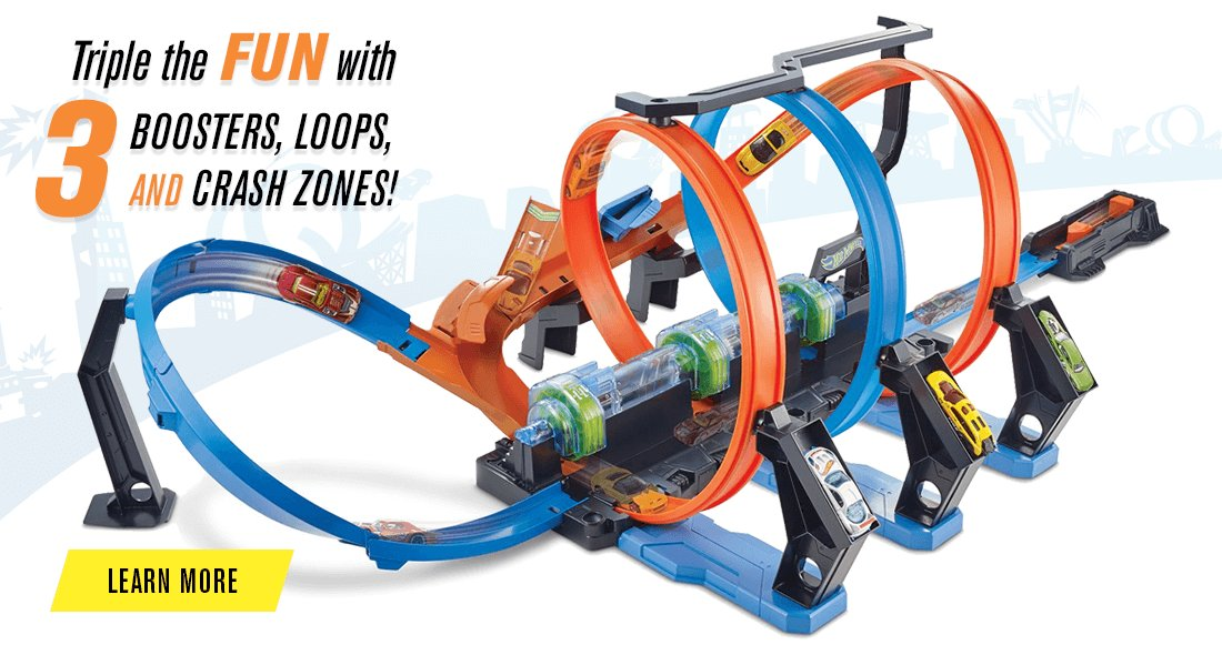 Hot Wheels® Corkscrew Crash™ Trackset