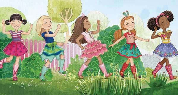 The garden of friendship blooms with good deeds