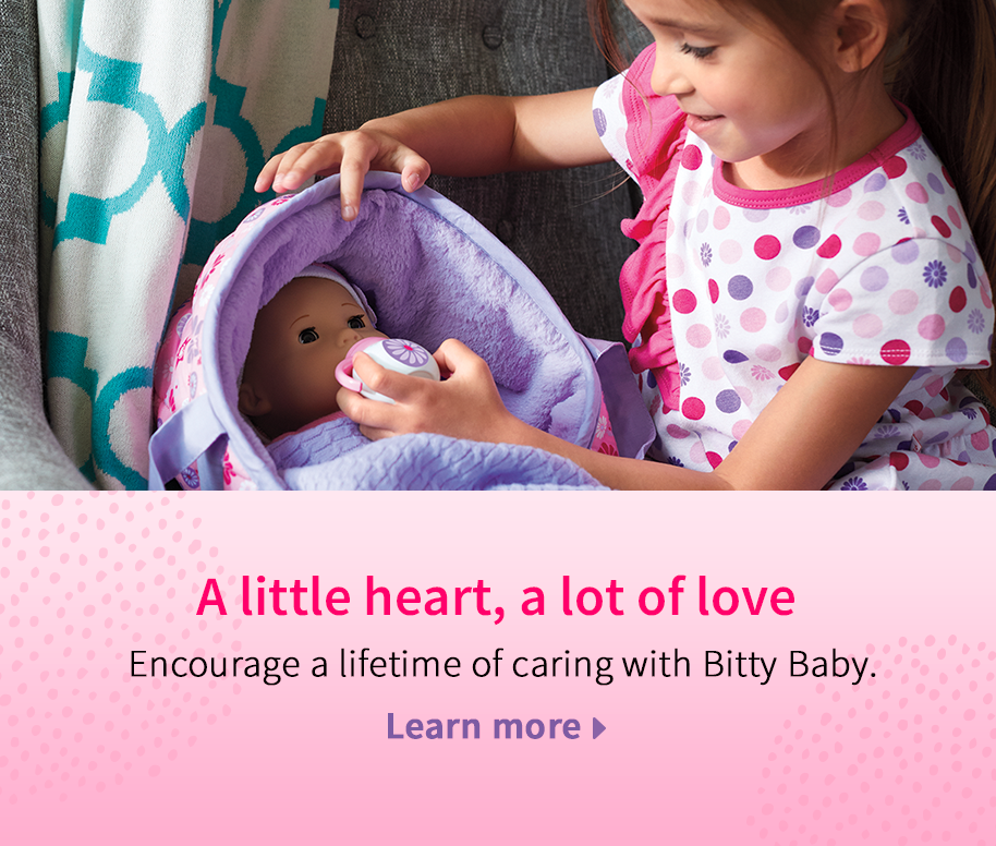 A little heart, a lot of love. Encourage a lifetime of caring with Bitty Baby. Learn more.