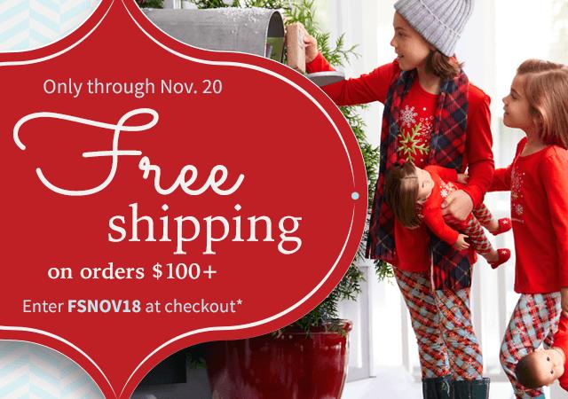 Only through Monday, Nov. 5*. You choose the savings. Spend $50+, save $10, spend $75+, save $15, spend $100+, save $20. Use code 3SAVE1118 at checkout.