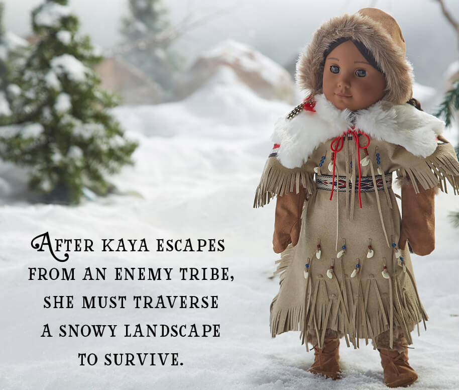 After Kaya escapes from an enemy tribe, she must traverse a snowy landscape to survive.