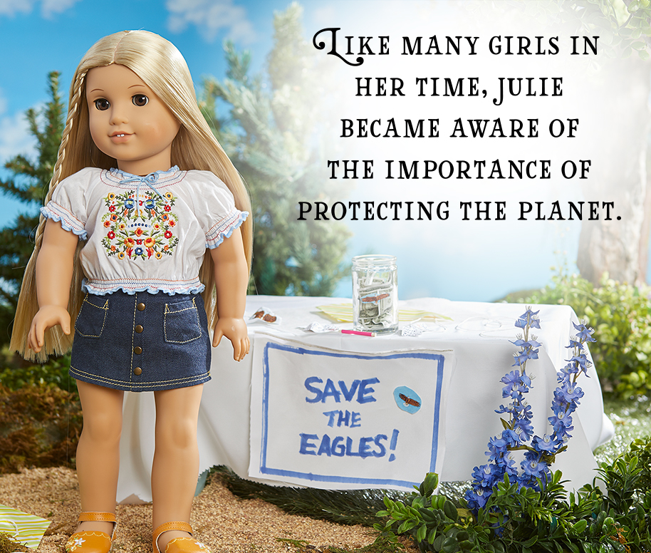 Like many girls in her time, Julie became aware of the importance of protecting the planet.