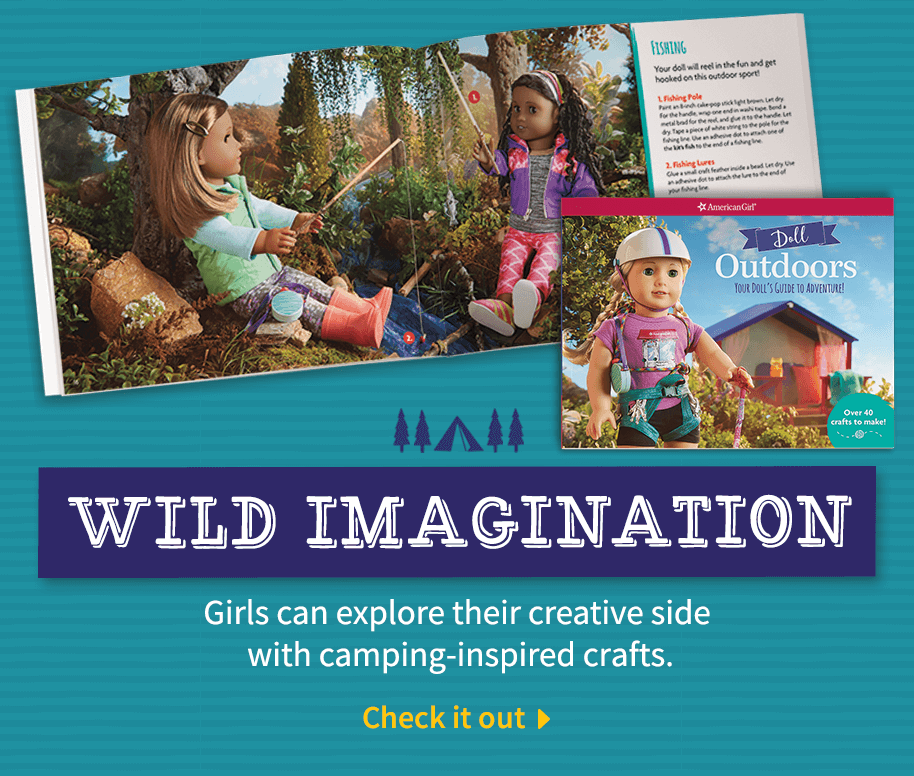 Girls can explore their creative side with camping-inspired crafts.