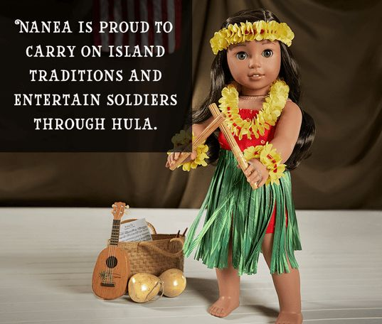 Nanea is proud to carry on island traditions and entertain soldiers through hula.