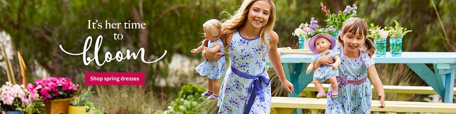 It's her time to bloom. Shop spring dresses.