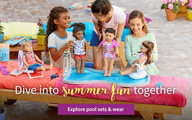 Dive into summer fun together. Explore pool sets & wear.