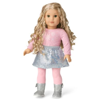 American Girl Snow Pretty Top /& Silver Sparkle Skirt SNOW FANCY Collection NEW