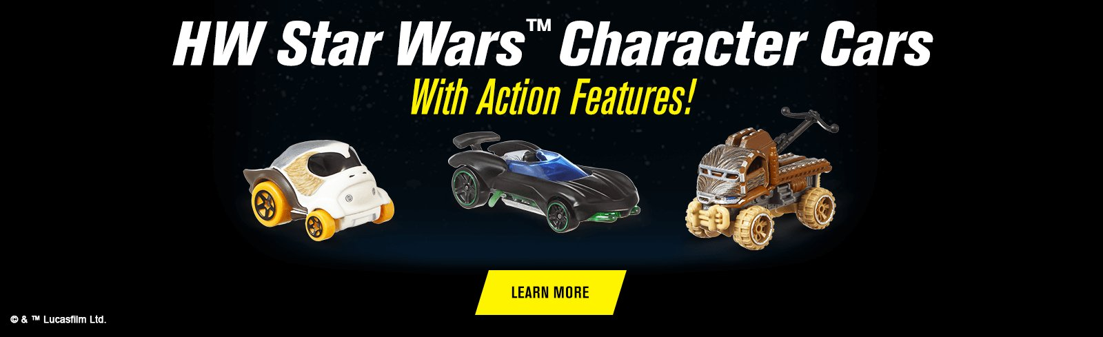 HW Star Wars™ Character Cars With Action Features!