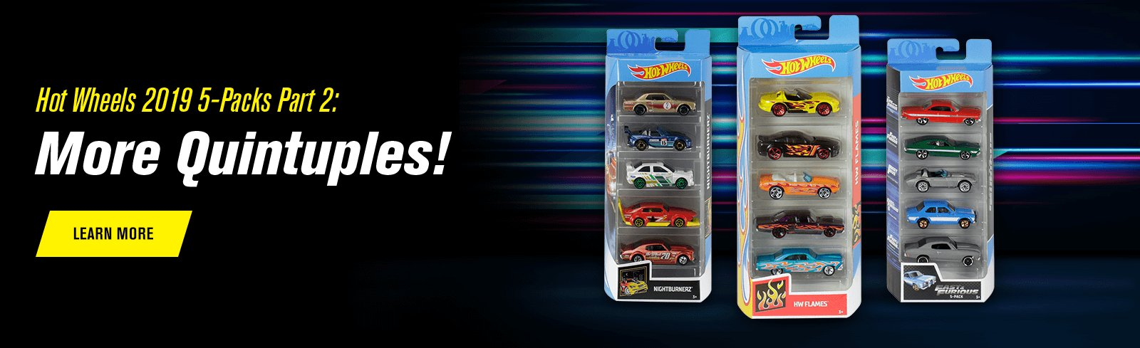 Hot Wheels 2019 5-Packs Part 2: More Quintuples!