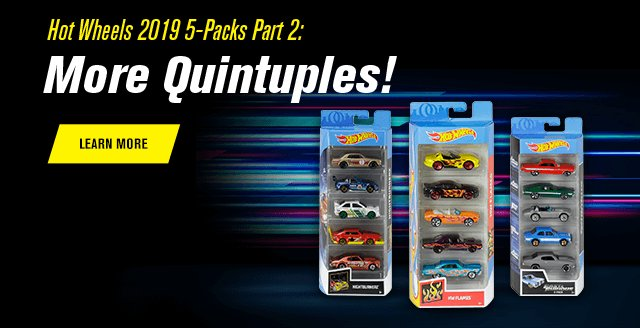 2Hot Wheels 2019 5-Packs Part 2: More Quintuples!