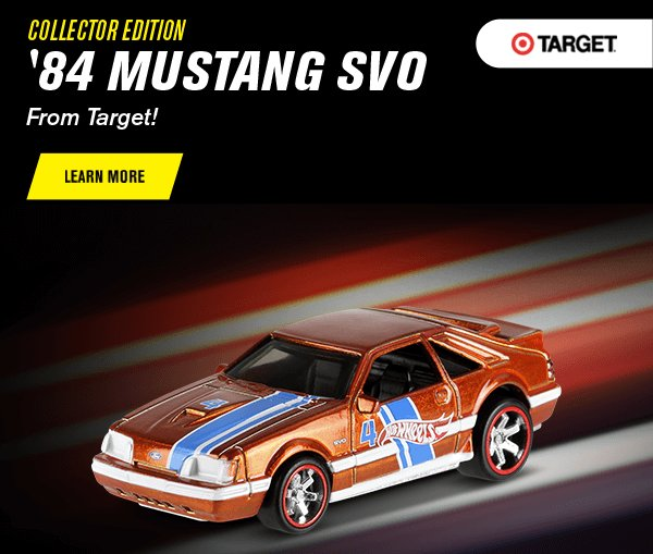 Collector Edition '84 Mustang  SVO From Target!