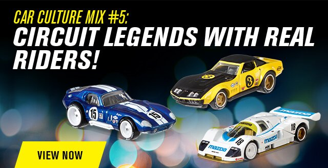 Hot Wheels 2018 Car Culture Mix #5: Circuit Legends with Real Riders!