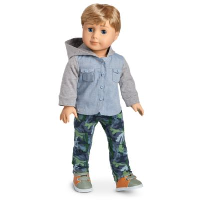 American Girl Camo Cool Outfit For 18-Inch Dolls Hoodie Boy NEW Truly Me