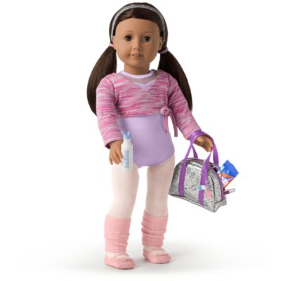 Dance Heart Draw String Backpack 18 in Doll Clothes Accessory Fit American Girl