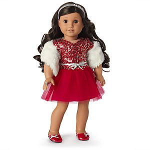 Decked Out Holiday Dress for 18-inch Dolls-Image