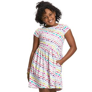 GMN66_Star_Print_Dress_for_Girls_01