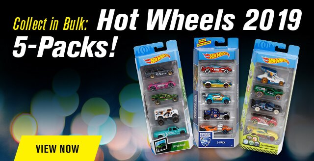 Collect in Bulk: Hot Wheels 2019 5-Packs!