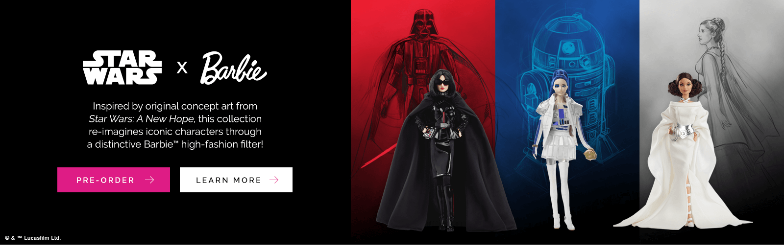 Pre-Order Star Wars x Barbie Dolls