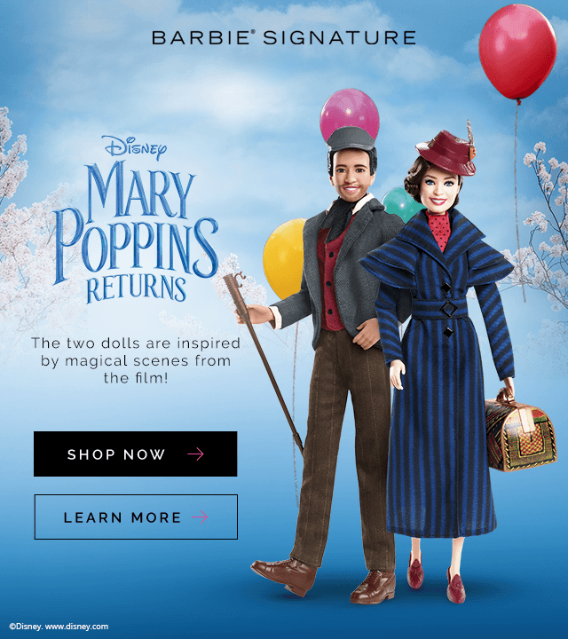 Mary Poppins Barbie Dolls