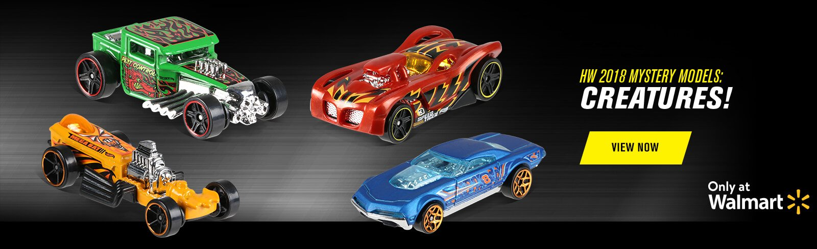 Hot Wheels 2018 Mystery Models Mix 4: Creatures!