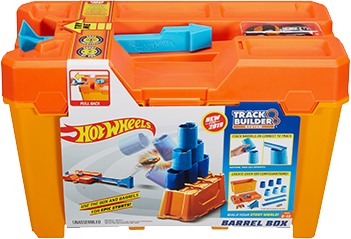 Hot Wheels Track Builder Barrel Box Gcf91 Mattel