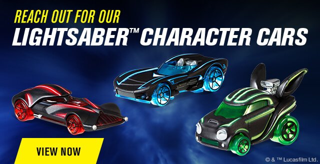 Reach Out for Our Lightsaber Series Character Cars!