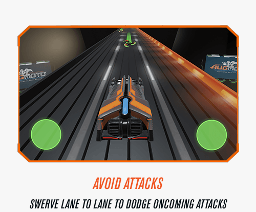 Avoid Attacks - Swerve lane to lane to dodge on coming attacks