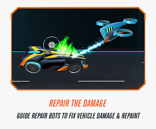 Repair The Damage - Guide repair bots to fix vehicle damage and repaint