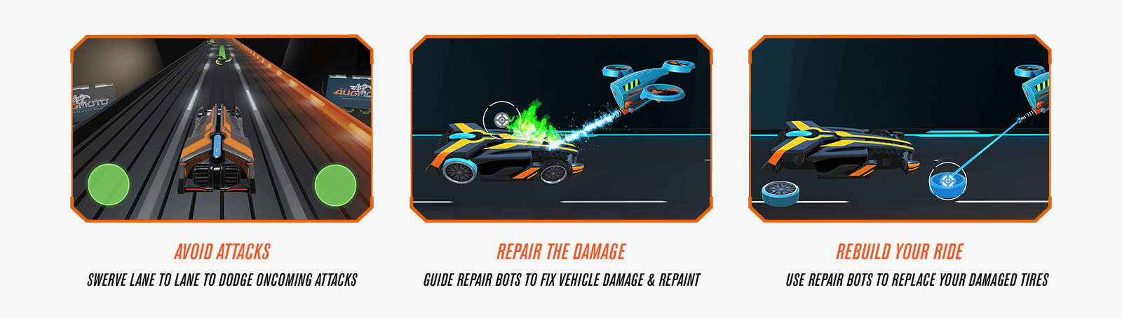 Avoid Attacks - Repair The Damage - Rebuild the Ride